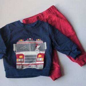 Carter's Firetruck Outfit * 9M